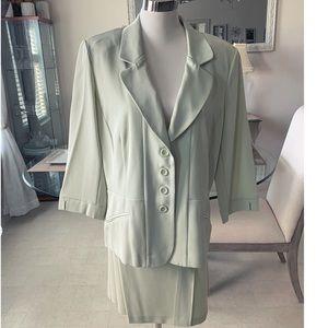 2pc Lime Courtenay Skirt and Jacket set
